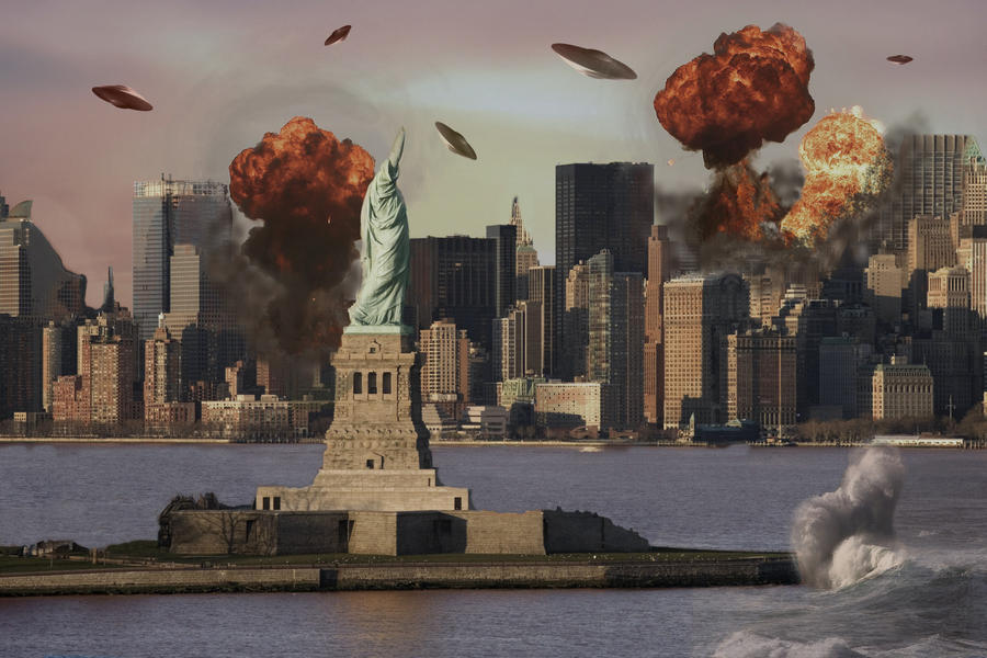Matte Painting-New York by Turtlefan926