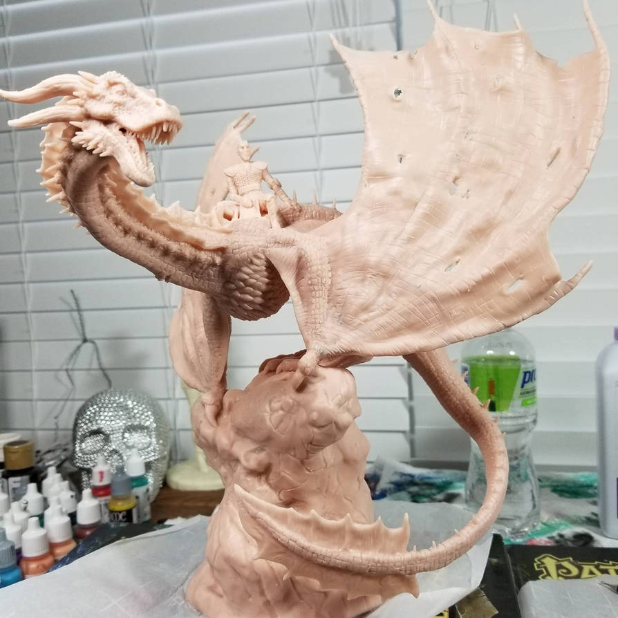 The Night's King and Viserion, unpainted by Devildog0597