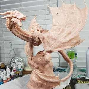 The Night's King and Viserion, unpainted