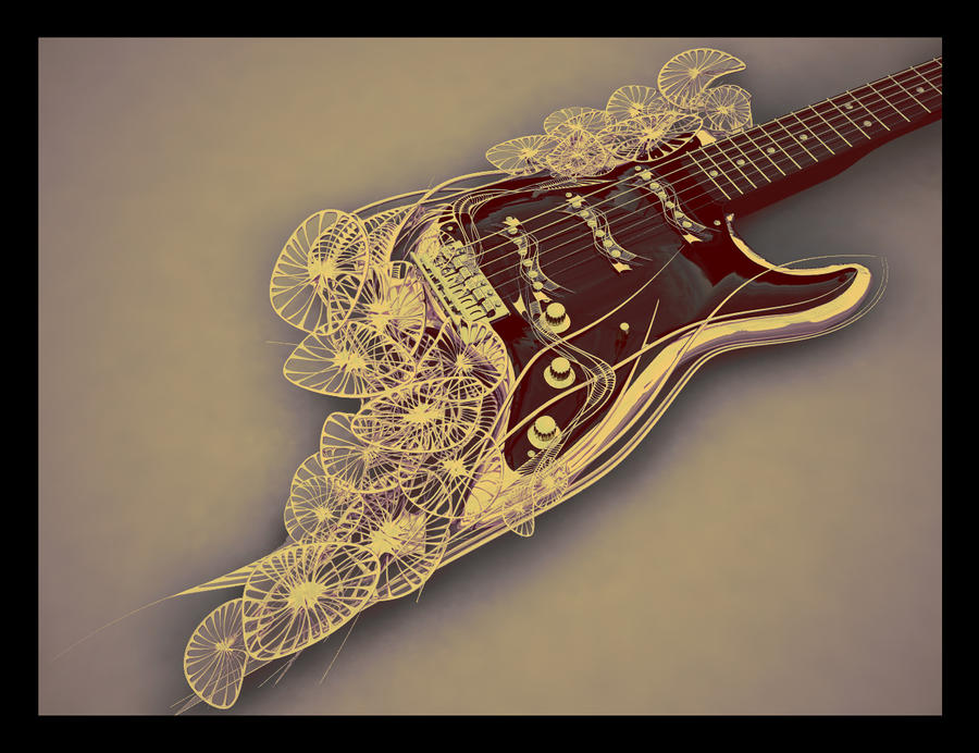 Flowers guitar by Citha