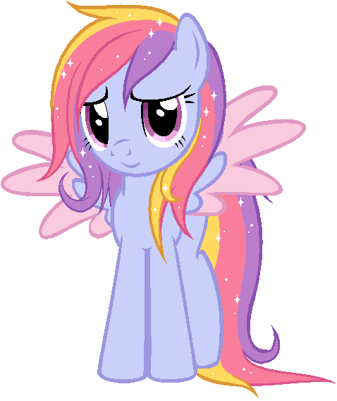 Glittering Cloud says Hello - Gift by Necrophilifox