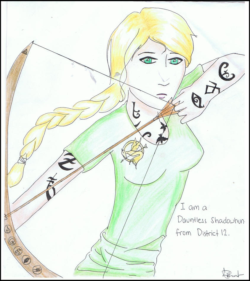 Dauntless shadowhunter from district 12 by vervaindemissa on