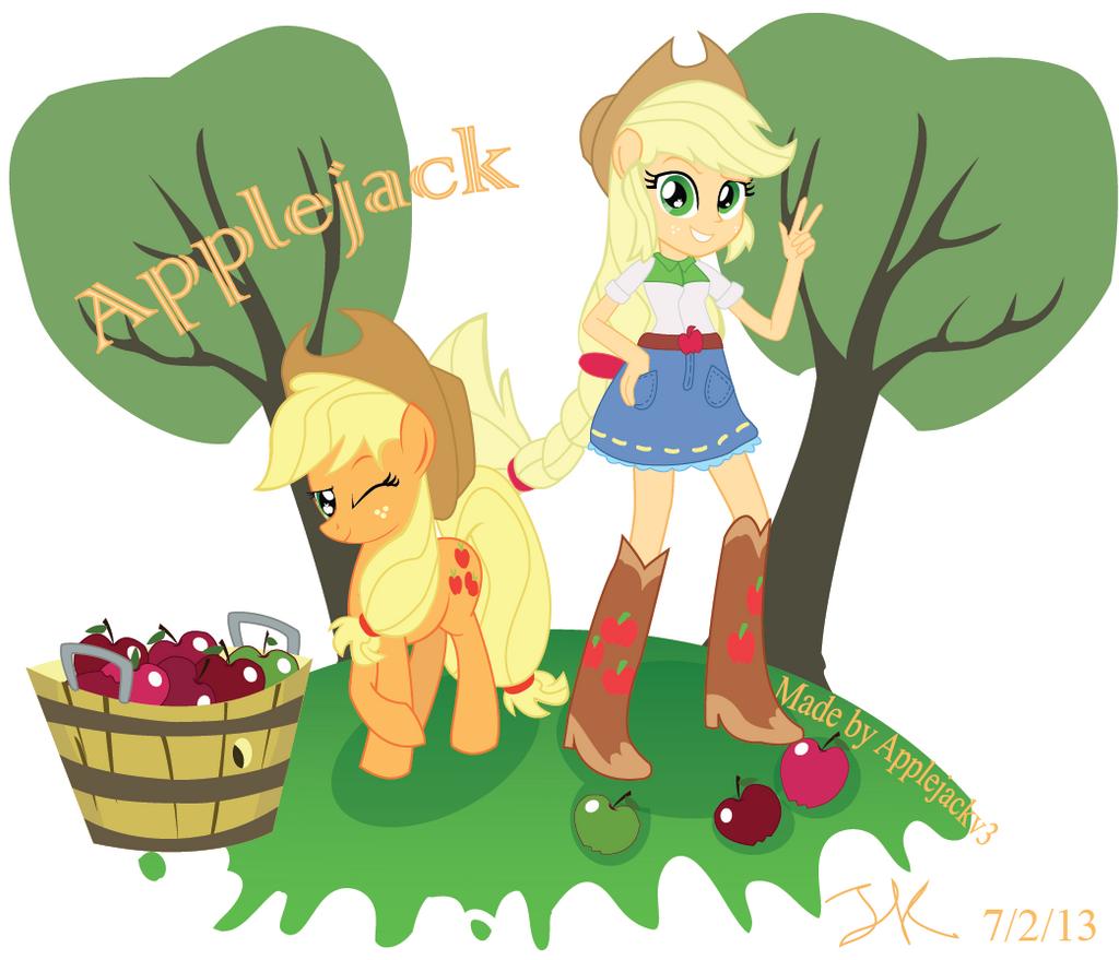 Applejack EG and Pony by Arteses-Canvas