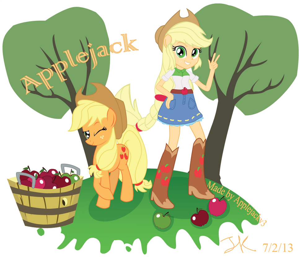 Applejack EG and Pony by Arteses-Canvas