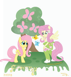 Fluttershys Pony and Eg