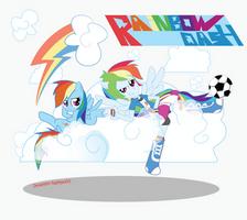 Rainbow Dash Pony and Eg by Arteses-Canvas