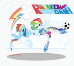 Rainbow Dash Pony and Eg