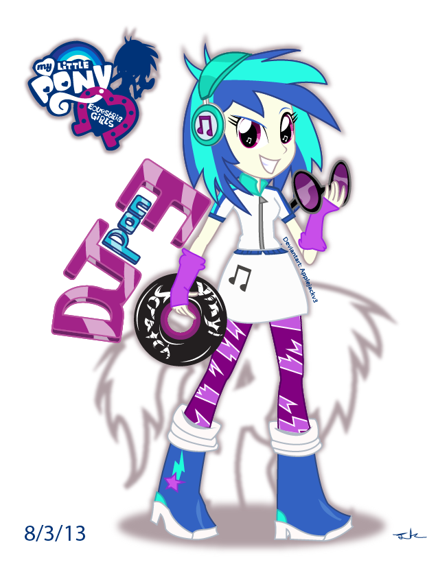 Eg Dj Pon 3 Vinyl Scratch Equestria Girls By Arteses