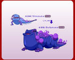 Pokemon Flora and Fauna Entry #034 and 035