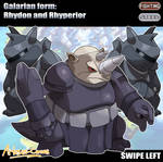 Galarian forms: Rhydon and Rhyperior
