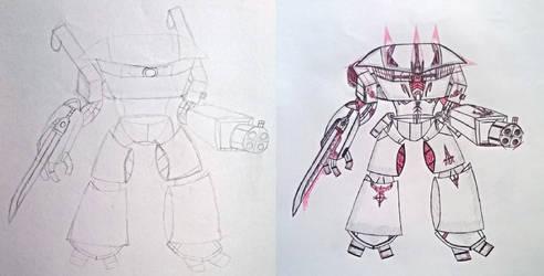 Shimazu, sketch and finish
