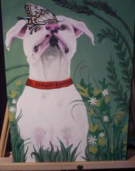 Lola  the pitbull boxer by Julie-Ann-DeYoung