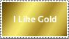 I Like Gold Stamp by PolandPeace