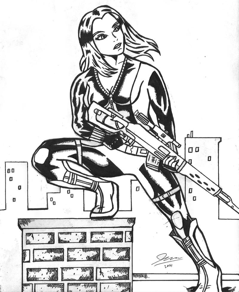 ScarJo Black Widow by spiderfan05
