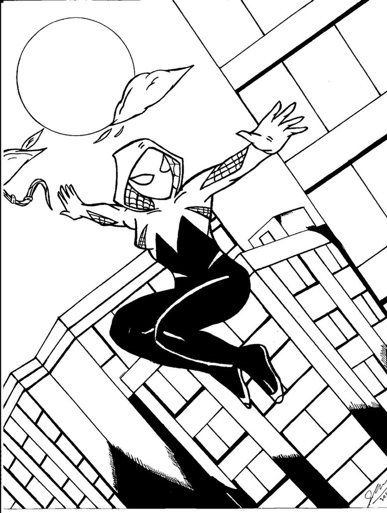 Spider-Gwen Swingin' by spiderfan05