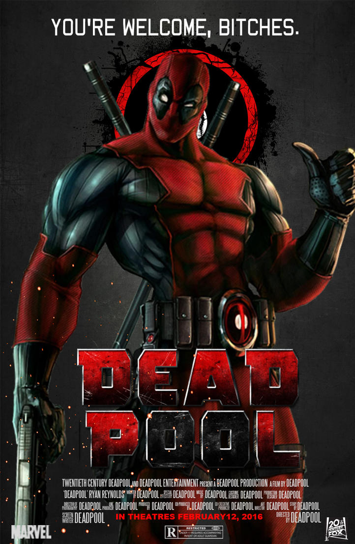 Deadpool Movie Poster by spiderfan05 on DeviantArt