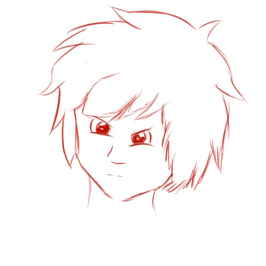 Male Anime Head Sketch By IAmRip On DeviantArt