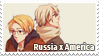 Russia x America Stamp by Espoirelle