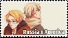 Russia x America Stamp by Espoirelle