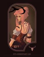Steampunk Portrait by Scendre-Lab
