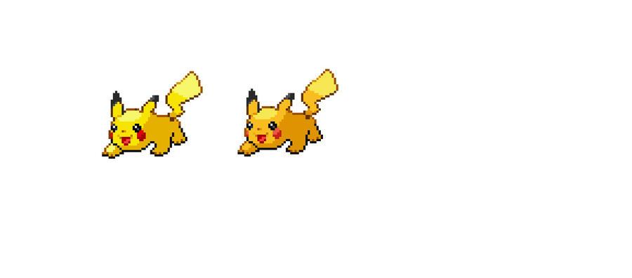 Pikachu sprite by Vespitomb on DeviantArt