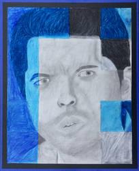 Castiel Portrait Grid Drawing by 1318Snake