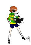 Chara and Gaster puppet