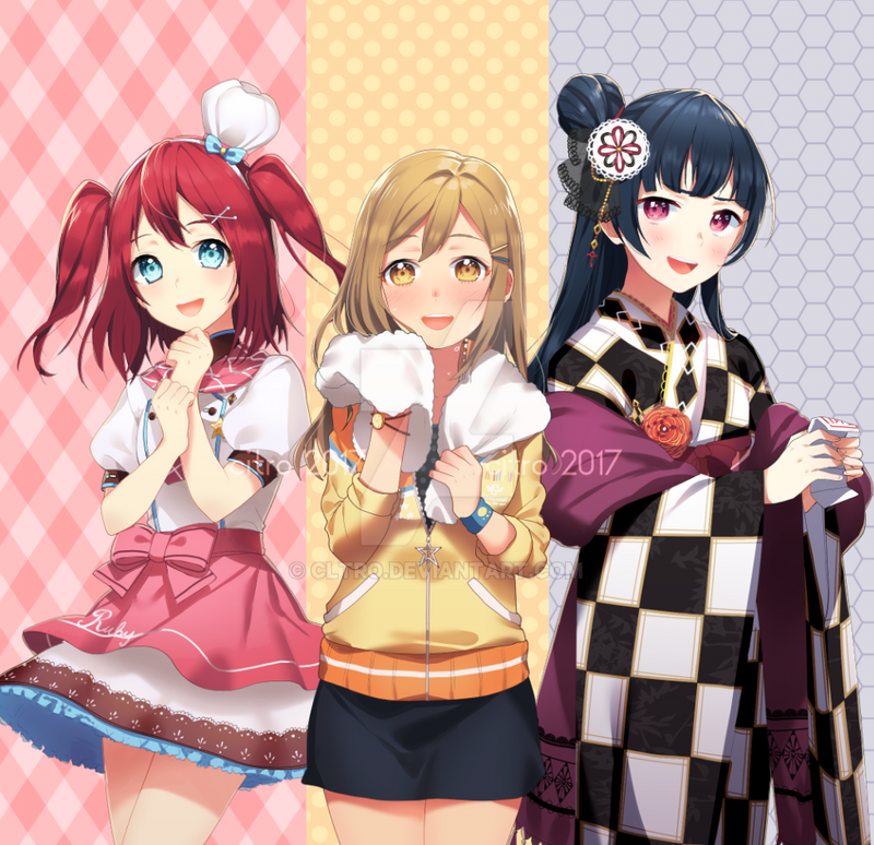 Aqours 1st years by ClTRO