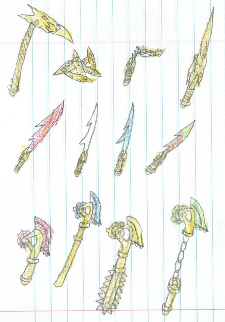 The Golden Weapons Of Ninjago By Xlunarsurgex On Deviantart