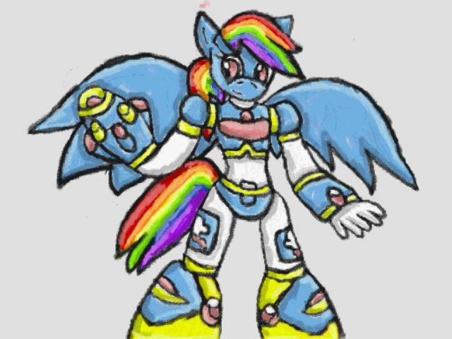 Reploid Rainbow Dash by SurgeCraft