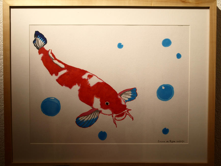 Koi fish by art 4 em on deviantart for Koi fish framed prints