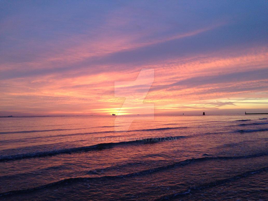 Late October Sunset by Art-4-EM
