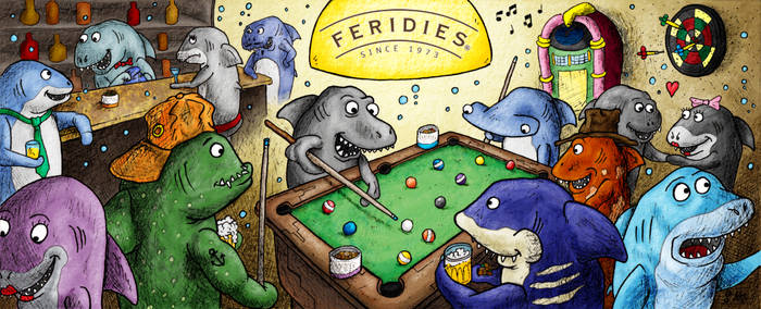 Poolsharks (Feridies Promo Art) by j-pitts