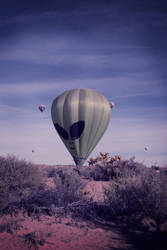 Alien Balloon with lomo effect
