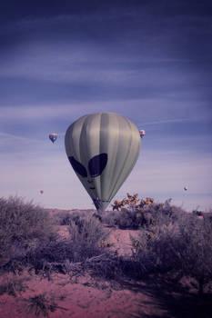 Alien Balloon with lomo effect