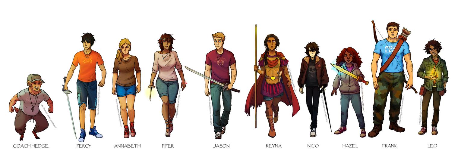 Heroes of Olympus by VikingMera on DeviantArt