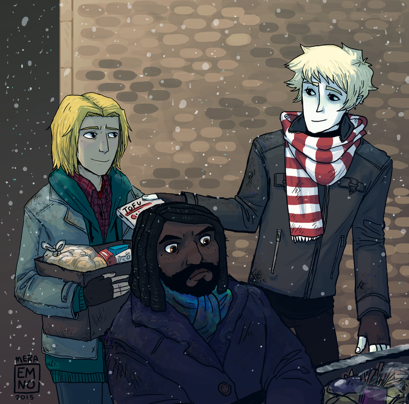 Magnus Chase and hobo friends by VikingMera