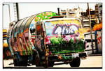 Public Vehicle-graffiti paint