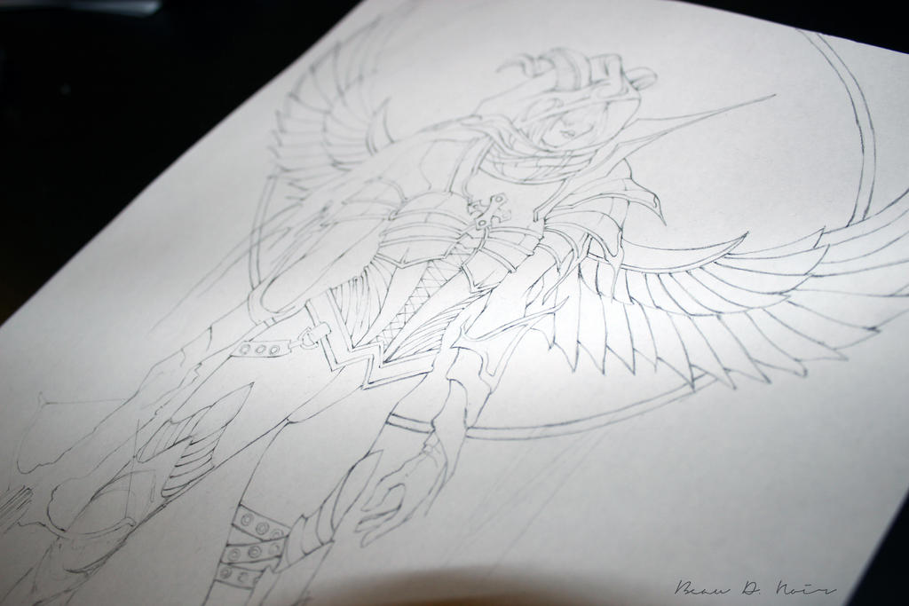 Demon Hunter Work in Progress by BeauDeNoir