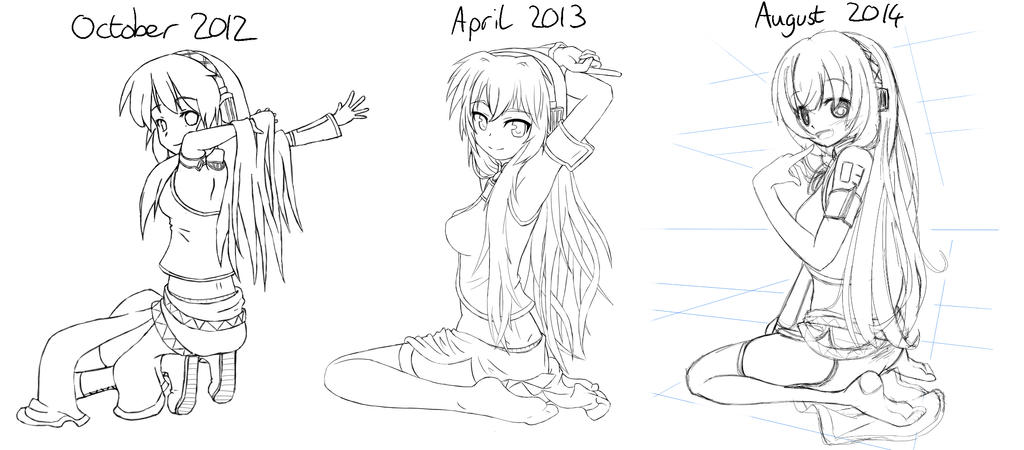 2 year anniversary re-draw WIP by AnArtistApprentice
