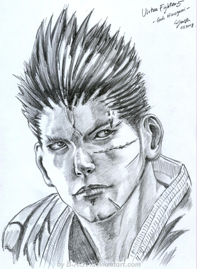 Goh Hinogami Virtua Fighter by B-AGT