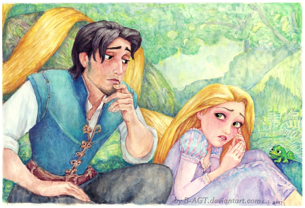 Rapunzel Flynn Tangled by B-AGT on DeviantArt for tangled rapunzel and flynn drawing  61obs