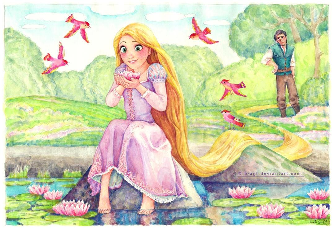 Rapunzel enjoying her freedom by B-AGT