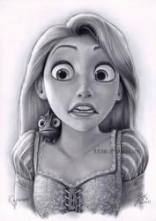 Rapunzel Drawing 4 by B-AGT