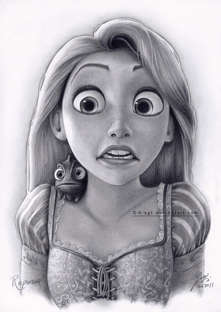 Rapunzel Drawing 4 by B-AGT on DeviantArt