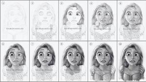 Rapunzel Drawing 4 WIP