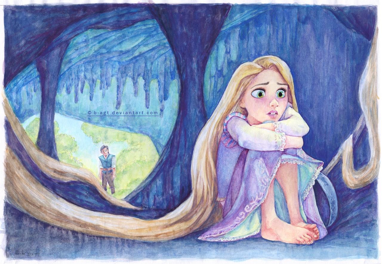Rapunzel getting depressed