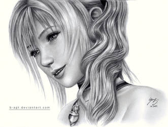 Serah drawing 5 by B-AGT