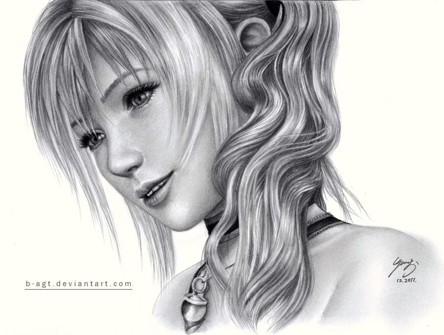 Serah drawing 5 by B-AGT