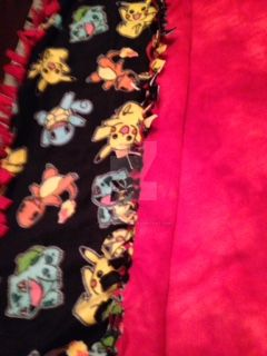 Fire Red No Sew Fleece Blanket by FoxofShadows